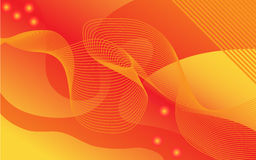 Orange lines and waves Royalty Free Stock Photos
