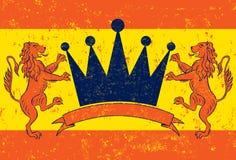 Orange Lion Crown Royalty Free Stock Photography