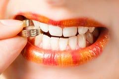 Orange lips Royalty Free Stock Photo