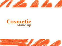 Orange lipstick banner design with space for text. Stock Photography