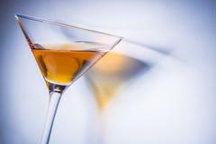 Orange liqueur into a glass. Stock Image