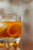 Orange liquor on the rocks Stock Images