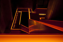 Orange lit staircase Royalty Free Stock Photos