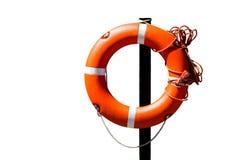 Orange live saving ring Stock Photography
