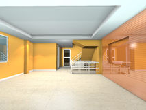 Orange living interior design Stock Image