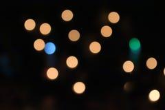 Orange ljus, cirkel och ljus - guling arkivbilder