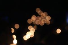 Orange ljus, cirkel och ljus - guling Arkivbild