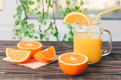 Orange, Lobule, Juice. Healthy Lifestyle Concept Royalty Free Stock Photography