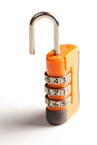 Orange lock Royalty Free Stock Image
