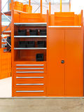 Orange locker Royalty Free Stock Photography
