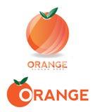Orange logo fruit Stock Image