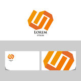 Orange logo Royalty Free Stock Images
