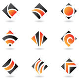 Orange logos. To go with your company name royalty free illustration