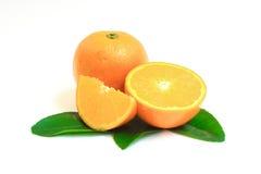 Orange lokalisiert auf weißem Hintergrund Lizenzfreie Stockbilder