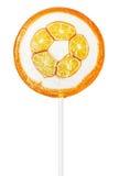 Orange lollipop isolated Royalty Free Stock Photos