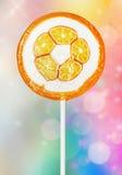 Orange lollipop Royalty Free Stock Photos