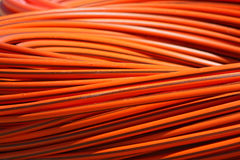 Orange long cable Royalty Free Stock Photography