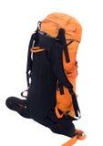 Orange loppryggsäck Arkivfoto