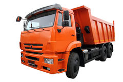 The orange lorry Royalty Free Stock Photo