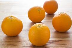 Orange. A lot of orange on wood royalty free stock images