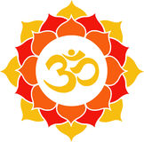 Orange Lotus Flower Mandala Stock Photography