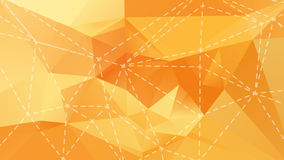 Orange low poly background Royalty Free Stock Image