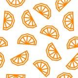 Orange low poly seamless pattern. Orange slices isolated on white background. royalty free stock photos