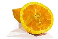 Orange low poly Royalty Free Stock Image