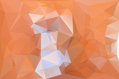 Orange lowpolygonal vector background. Bright orange lowpoly mosaic horizontal layout background. Vector illustration. Abstract fire reflection diamond surface Royalty Free Stock Photography