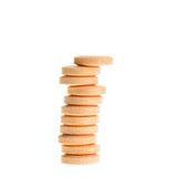 Orange lozenges isolated on white Stock Image