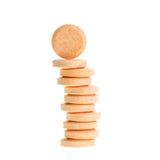 Orange lozenges isolated on white Royalty Free Stock Image