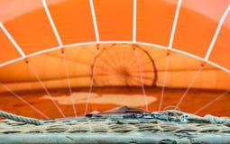 Orange luftballong Royaltyfri Fotografi