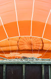 Orange luftballong Arkivfoto