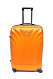 Orange luggage isolated Royalty Free Stock Photos