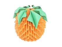Orange lumineuse avec des lames. Origami. Photo stock