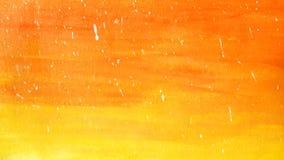 Orange lumineuse d'aquarelle de résumé et fond rouge avec les baisses blanches illustration de vecteur