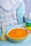 Orange lumineuse de purée Images libres de droits