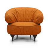 Orange Luxurious armchair. Isolated on white background Stock Photos