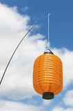 Orange lykta Arkivbild