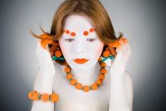 Orange Mädchen Stockbild