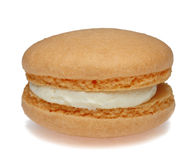 Orange Macaron Arkivbild