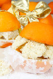 Orange macaroon as gift wrapped Royalty Free Stock Images