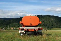 Orange machine to irrigate Royalty Free Stock Images