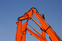 Orange machinery Royalty Free Stock Photo