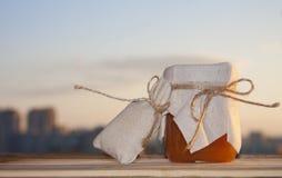 Orange maemelade mit Gewürzen Stockfoto