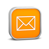 Orange Mail Sign Stock Photography