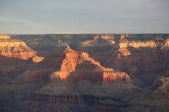 Orange Majesty. Sunrise at the Grand Canyon Arizona a few days before Christmas Stock Image