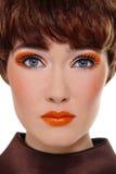Orange makeup Stock Image