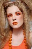 Orange makeup Royalty Free Stock Photos