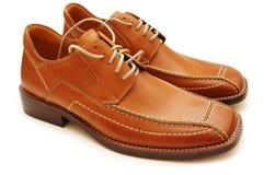 Orange male shoes isolated Royalty Free Stock Image